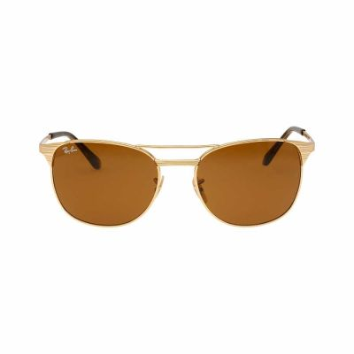 Ray Ban - Ray-Ban Signet Metal Frame Brown Classic Lens Men's Sunglasses RB3429