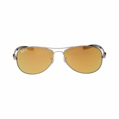Ray Ban - Rayban Carbon Fibre Frame Gold Mirror Lens Men's Sunglasses 0RB8301004N35614