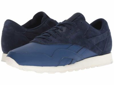 Reebok - Reebok Lifestyle Men's Washed Blue Collegiate Navy Chalk Classic Nylon AS Lifestyle Sneakers