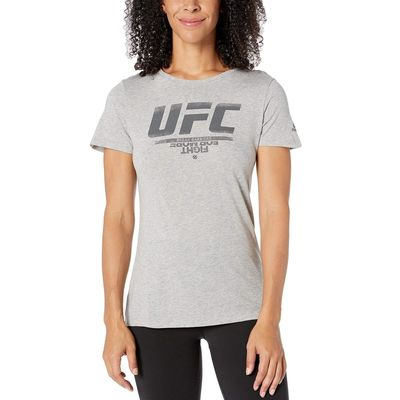 Reebok - Reebok Medium Grey Heather Ufc Logo Tee