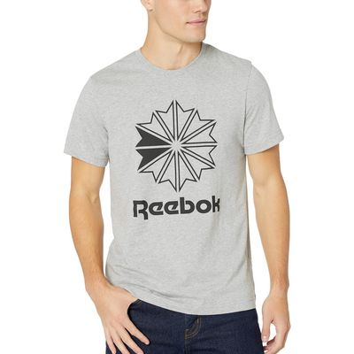 Reebok - Reebok Medium Grey Heather/Medium Grey Heather Classics Big Logo Tee