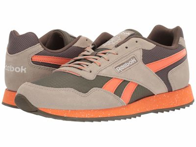 Reebok - Reebok Men Army Green/Fiery Orange/Super Neutral Cl Harman Rpl Tl Lifestyle Sneakers