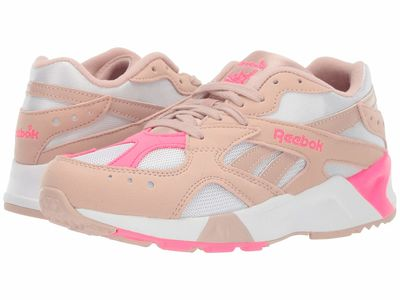 Reebok - Reebok Men Bare Beige/White/Acid Pink Aztrek Lifestyle Sneakers