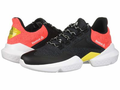 Reebok - Reebok Men Black/True Grey/Neon Red/Red/Go Yellow/White Split Fuel Athletic Shoes