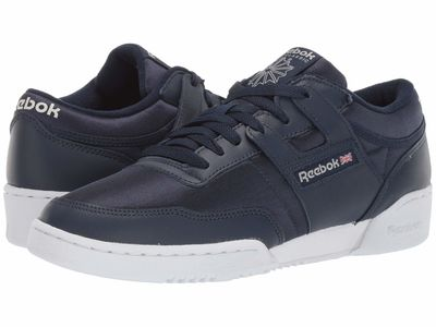 Reebok - Reebok Men Nylon Crushed Cobalt/White/Skull Grey Workout 85 Txt Mu Lifestyle Sneakers