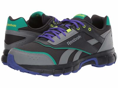 Reebok - Reebok Men True Grey 8/True Grey 5/Emerald Royal Run Finish Running Shoes