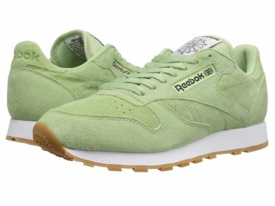 Reebok - Reebok Men's Aloe Green Classic White Coal Classic Leather Pastels Lifestyle Sneakers