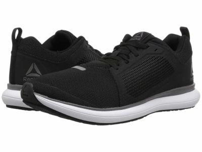 Reebok - Reebok Men's Black White Pewter Ash Grey Driftium Ride Athletic Shoes