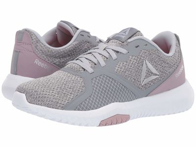 Reebok - Reebok Women Cold Grey/Lilac Fog/White/Silver/Black Reebok Flexagon Force Athletic Shoes