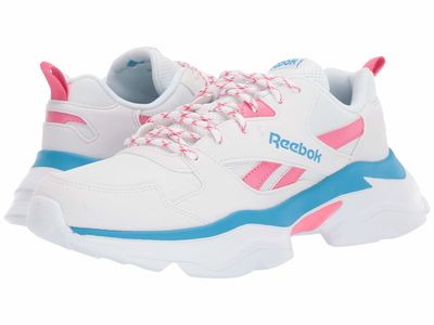 Reebok - Reebok Women White/Astro Pink/Bright Cyan Royal Bridge 3 Lifestyle Sneakers