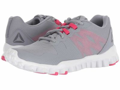Reebok - Reebok Women's Cool Shadow White Shark Twisted Pink Realflex Train 5.0 Athletic Shoes