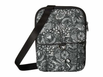 Sakroots - Sakroots Black/White Spirit Desert New Adventure Wynnie Small Flap Messenger Cross Body Bag