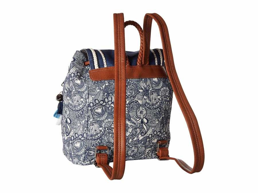 Sakroots Navy Spirit Desert Artist Circle Mellie Backpack