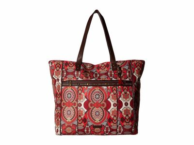 Sakroots - Sakroots Ruby Wanderlust Artist Circle Kota Nylon Travel Bag Tote Handbag