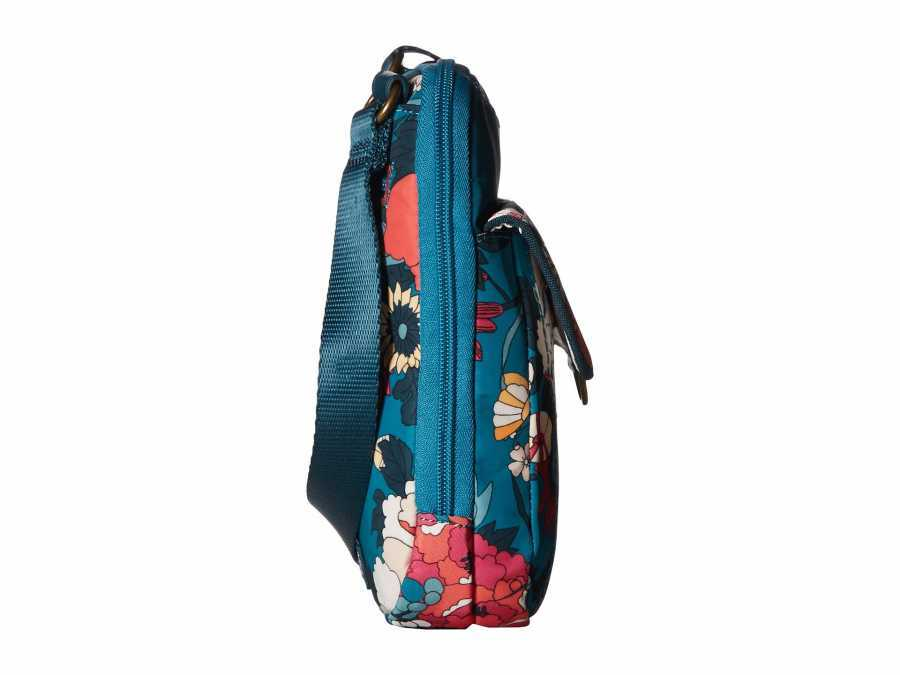 Sakroots Teal Flower Power New Adventure Wynnie Small Flap Messenger Cross Body Bag