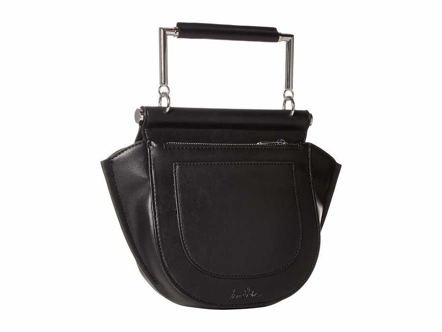 Sam Edelman Black Mia Half Moon Cross Body Bag
