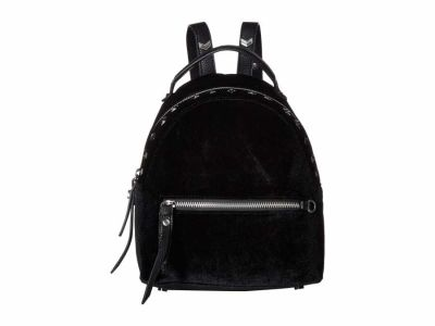Sam Edelman - Sam Edelman Black Sammi Studded Velvet Mini Backpack