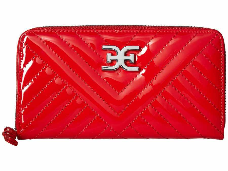Sam Edelman Red Sophia Quilted Checkbook Wallet
