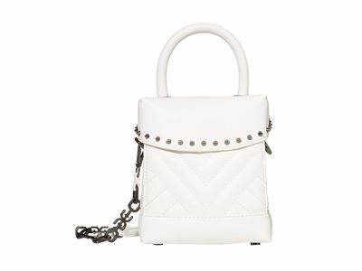 Sam Edelman - Sam Edelman White Charlie Crossbody Box Cross Body Bag