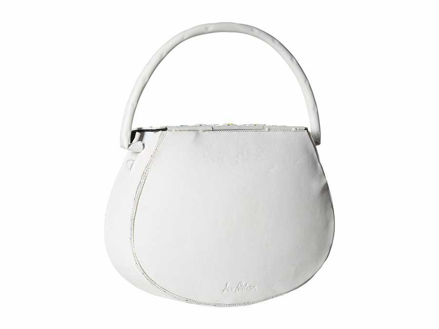 Sam Edelman White Georgia Hardcase Shoulder Bag