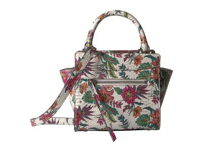 Sam Edelman - Sam Edelman White Multi Snake Floral Karla Mini Tote Cross Body Bag