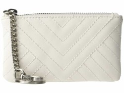 Sam Edelman White Uri Coin Purse Coin Card Case - Thumbnail