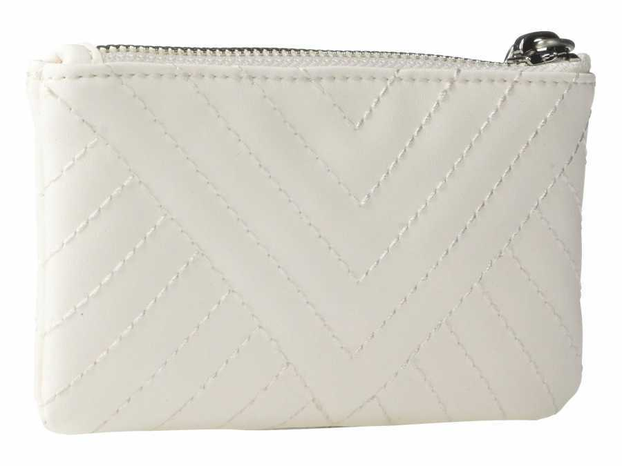 Sam Edelman White Uri Coin Purse Coin Card Case