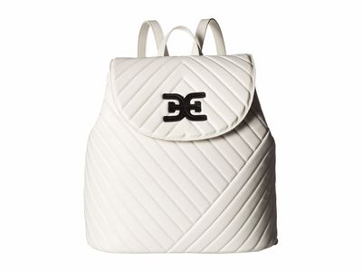 Sam Edelman - Sam Edelman White/Black Martha Flap Backpack
