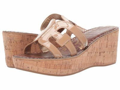 Sam Edelman Women Almond Patent Regis Heeled Sandals