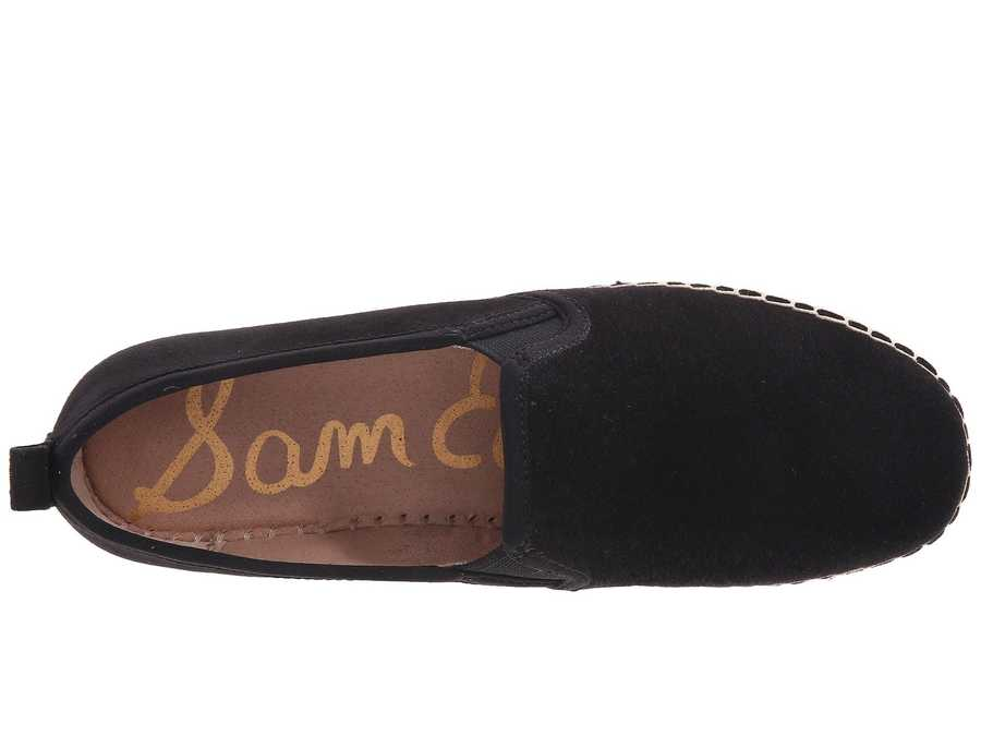 Sam Edelman Women Black Suede Leather Carrin Loafers