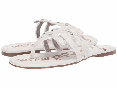 Sam Edelman - Sam Edelman Women Bright White Atanado Leather Cara Flip Flops
