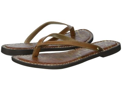 Sam Edelman - Sam Edelman Women Luggage Vaquero Saddle Leather Gracie Flip Flops