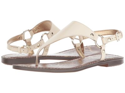 Sam Edelman - Sam Edelman Women Modern İvory Vaquero Saddle Leather Greta Flat Sandals