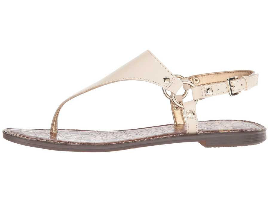 Sam Edelman Women Modern İvory Vaquero Saddle Leather Greta Flat Sandals