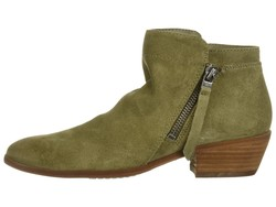 Sam Edelman Women Moss Green Velutto Suede Leather Packer Ankle Bootsbooties - Thumbnail