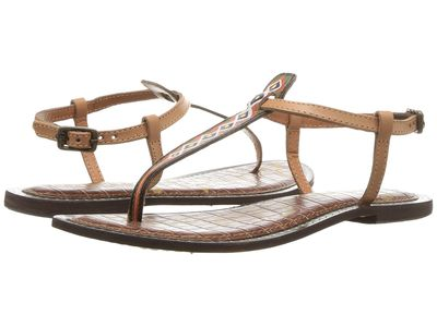 Sam Edelman - Sam Edelman Women Natural Painted Tribal Leather Gigi 6 Flat Sandals