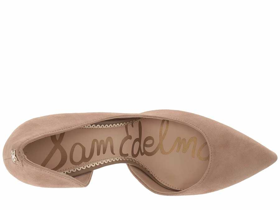 Sam Edelman Women Oatmeal Suede Leather Harrah Pumps