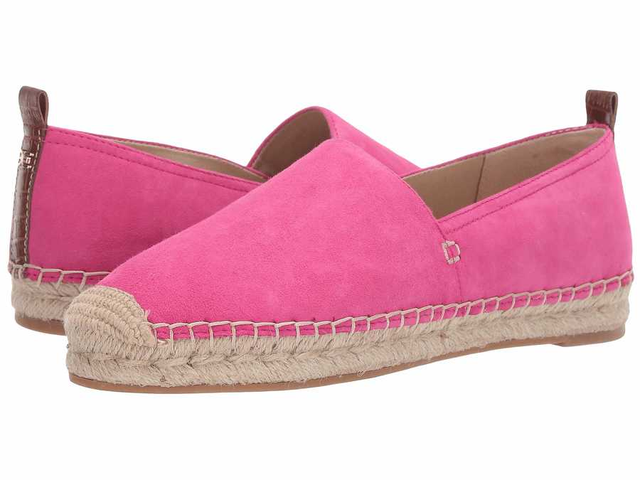 Sam Edelman Women Pink Peony Suede Leather Khloe Flats