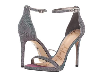 Sam Edelman - Sam Edelman Women Pink/Blue Multi Flash Glitz Fabric Ariella Strappy Sandal Heel Heeled Sandals