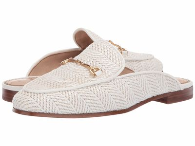 Sam Edelman - Sam Edelman Women White Oversize Stripe Raffia Linnie Loafers
