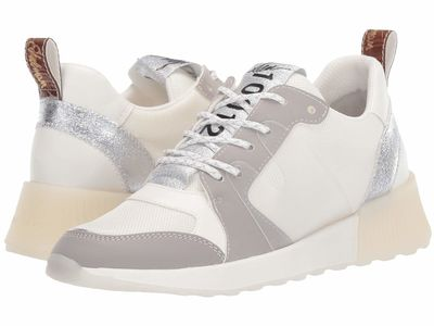 Sam Edelman - Sam Edelman Women White/Fog Grey/Soft Silver Mesh/Leather/Nubuck Darsie Lifestyle Sneakers