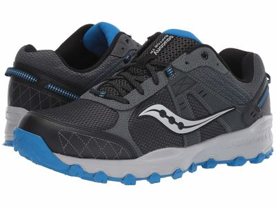 Saucony - Saucony Men Charcoal/Blue Grid Raptor Tr 2 Running Shoes