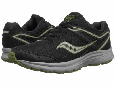 Saucony - Saucony Men's Black Green Cohesion TR11 Running Shoes