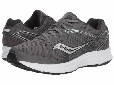 Saucony - Saucony Men's Grey White Black Grid Cohesion 11 Running Shoes