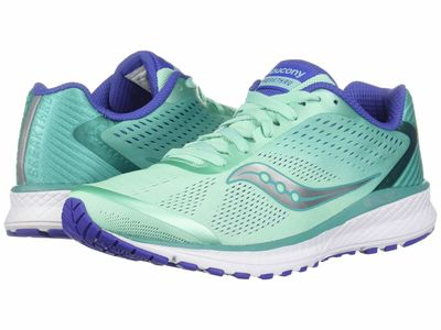 Saucony - Saucony Women Aqua/Violet Breakthru 4 Running Shoes