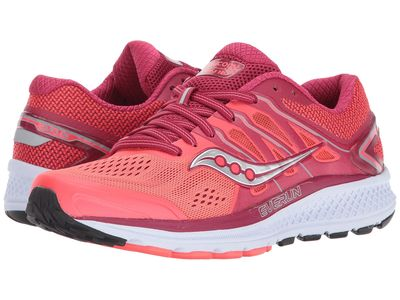 Saucony - Saucony Women Berry/Coral Omni 16 Running Shoes