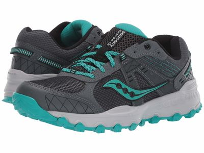 Saucony - Saucony Women Charcoal/Teal Grid Raptor Tr 2 Running Shoes
