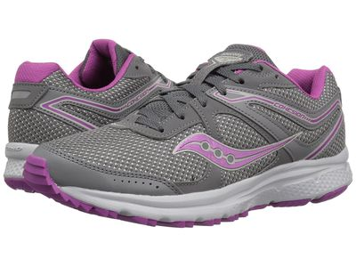 Saucony - Saucony Women Grey/Purple Cohesion Tr11 Running Shoes