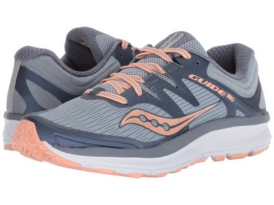 Saucony - Saucony Women Slate/Peach Guide İso Running Shoes