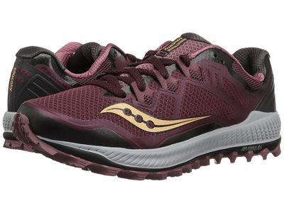 Saucony - Saucony Women Wine/Peach Peregrine 8 Running Shoes